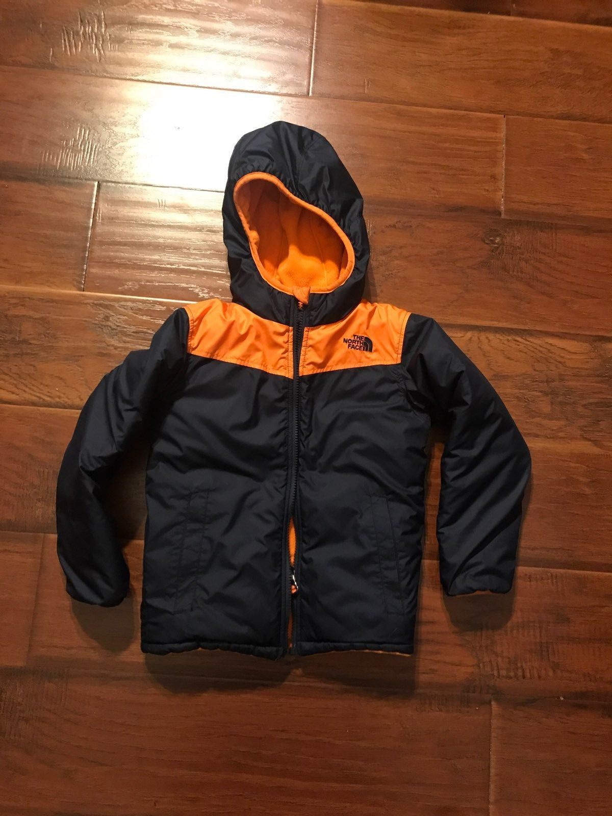 The North Face Reversible Jacket Size 6 Navy Blue Orange Color In Good Condition Comes From Pet And Smoke Reversible Jackets North Face Coat The North Face [ 1600 x 1200 Pixel ]