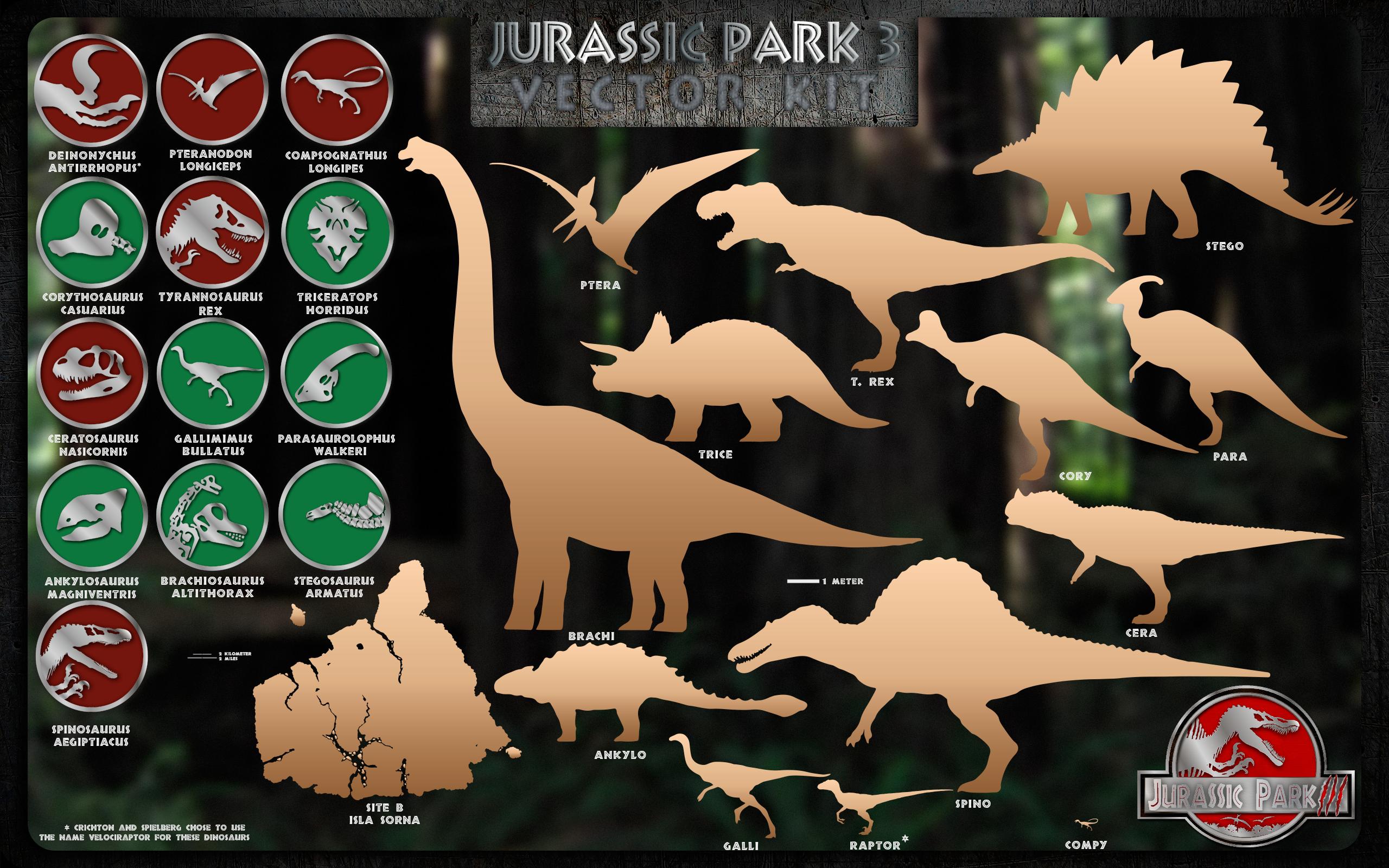 jurassic park 3 vector kit by mcmikiusdeviantartcom on