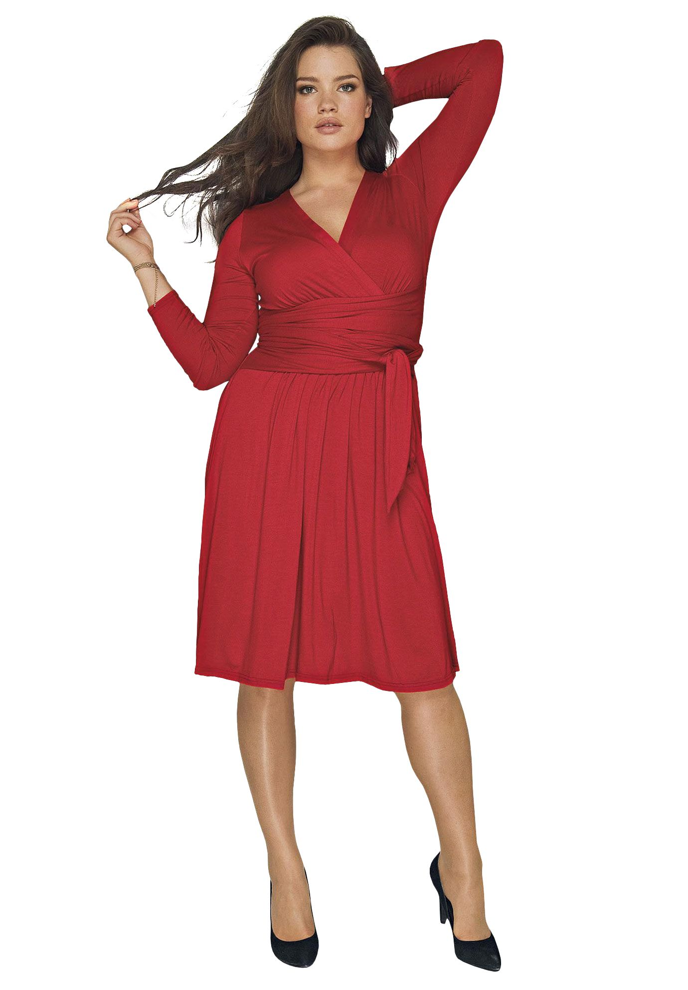 Plus Size Empire Waist Wrap Dress By Taillissime Plus Size