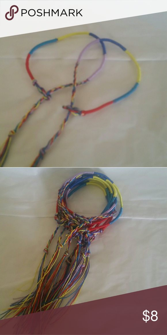 10 friendship bracelets 10 friendship bracelets great gift for kids to pass out to there friends at school hand made Other