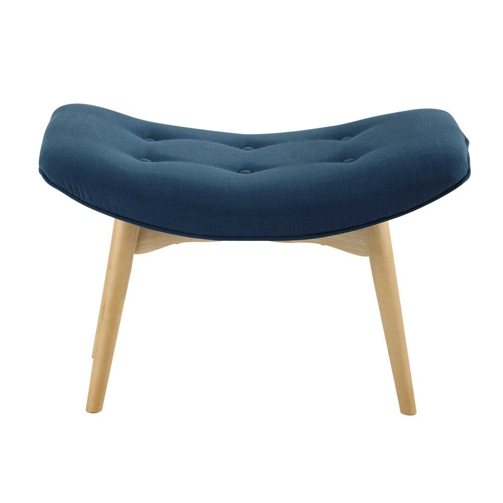 Scandinavian Petrol Blue Fabric Pouffe/Footrest | Footrest, Living ...