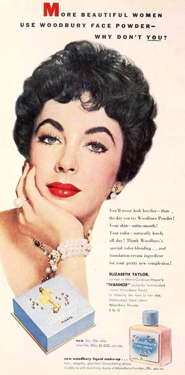A Gallery of Vintage Cosmetics and Beauty Product Ads Featuring the Biggest Stars of Old Hollywood | Tom + Lorenzo