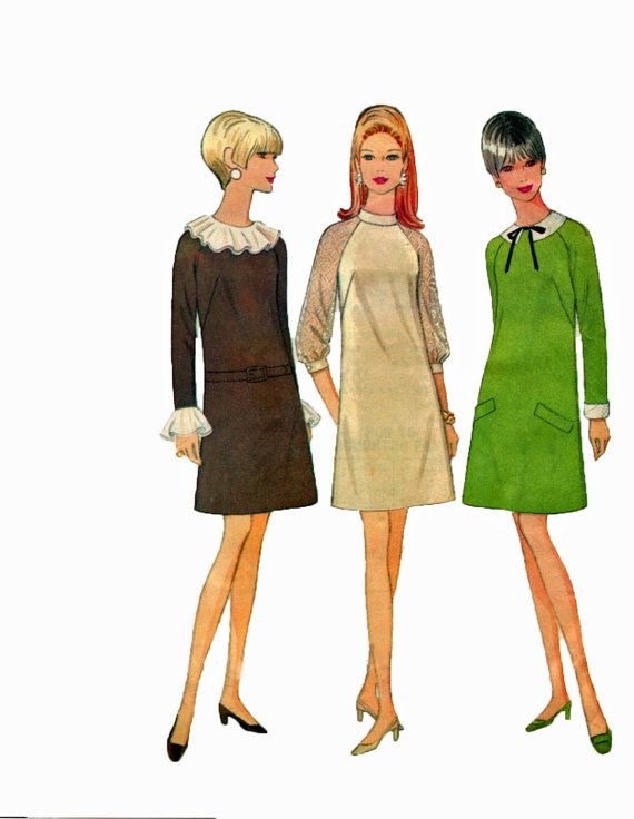 McCalls 9147 1960s A Line Dress Sewing Pattern by retromonkeys, $12.00