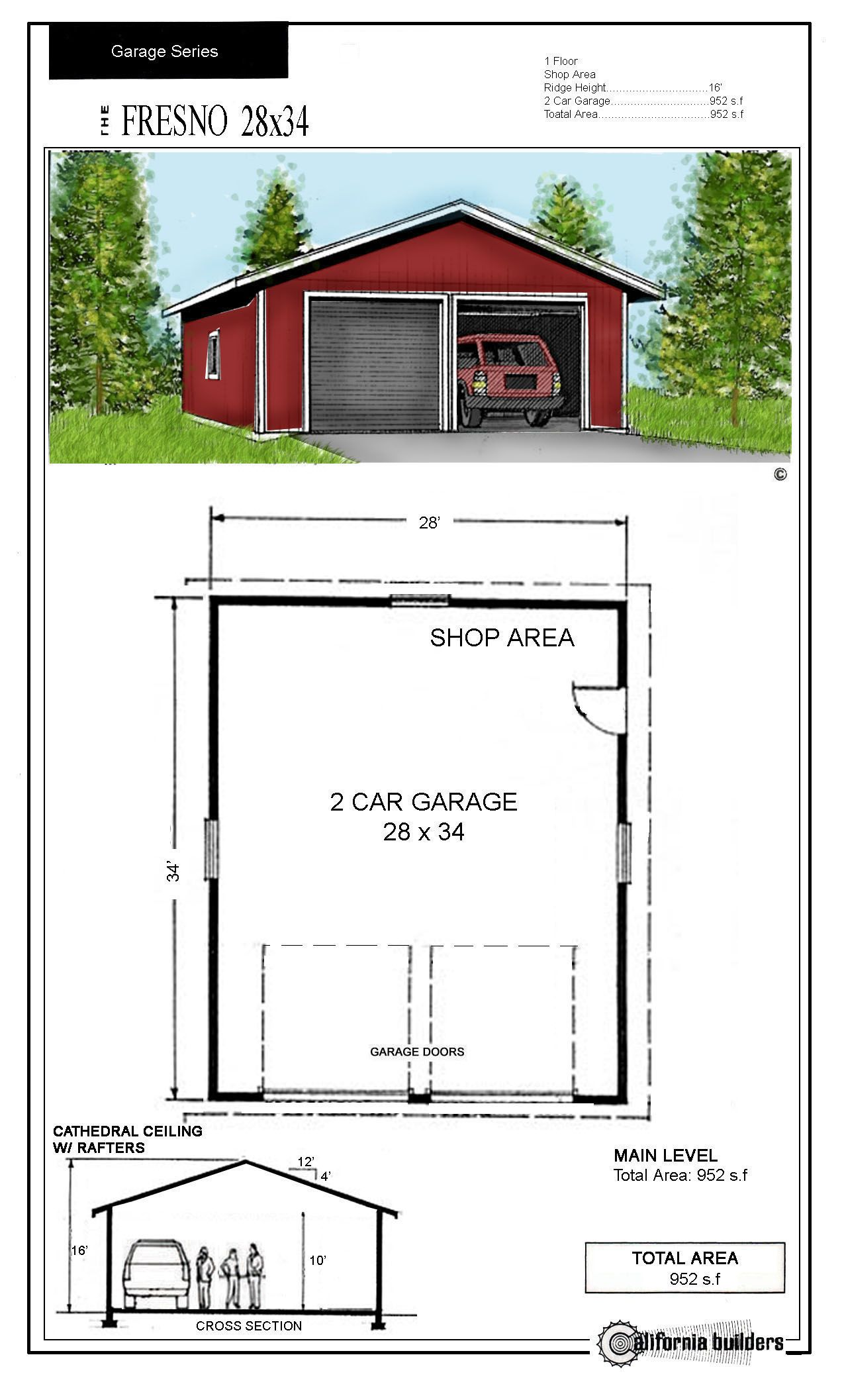 24x32 Garage Kit Joy Studio Design Gallery Best Design Garage Design Plans Garage Plans With Loft Garage Design