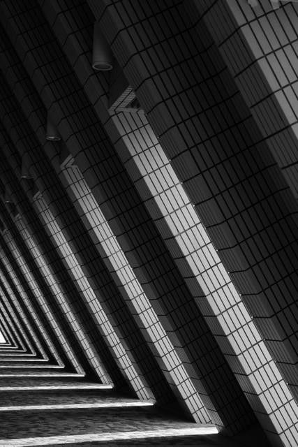 Modern Architecture Photography Black And White abstract architecture - tri-infinity (black and white abstract