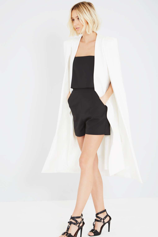 Premium white maxi cape blazer by lavish alice topshop europe