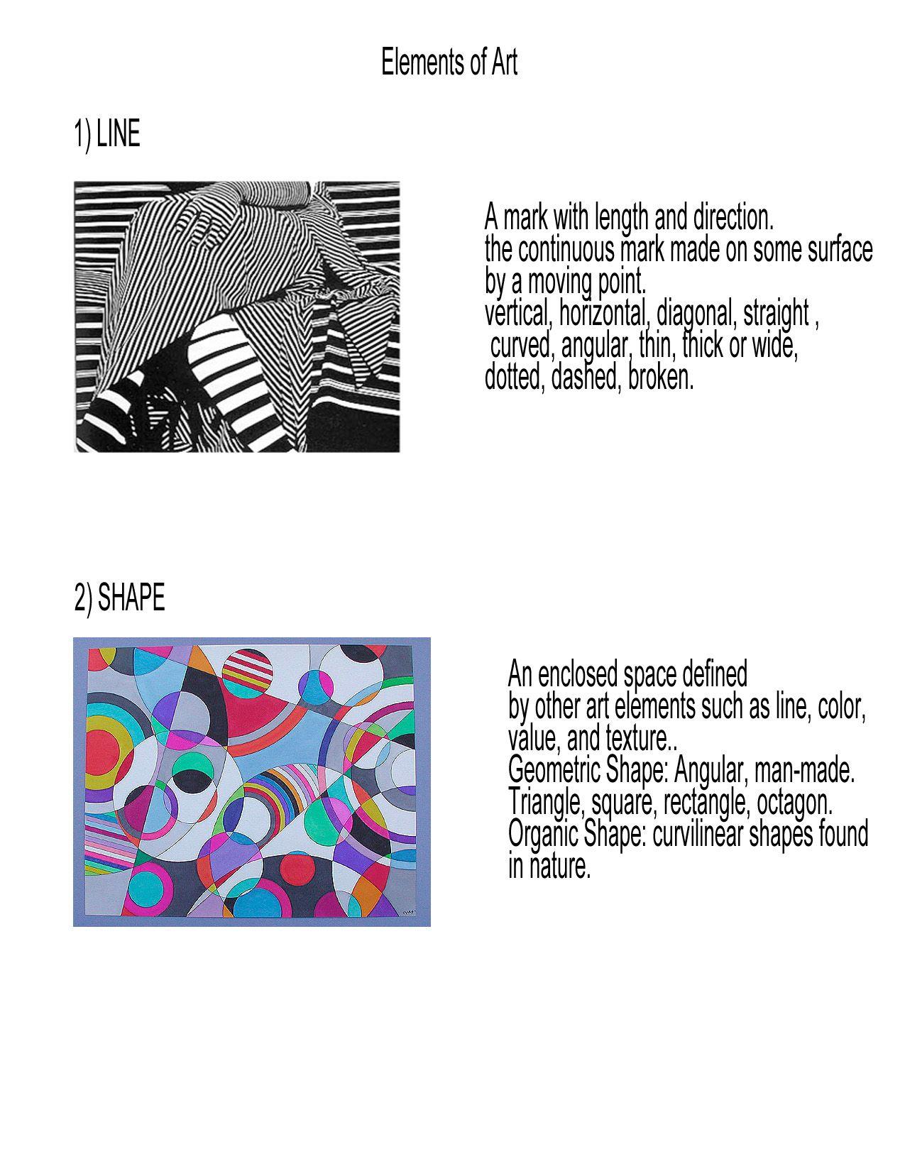 Worksheets Elements And Principles Of Art Worksheet design elements and principles examples painting calendar tphs visual art j doerrer