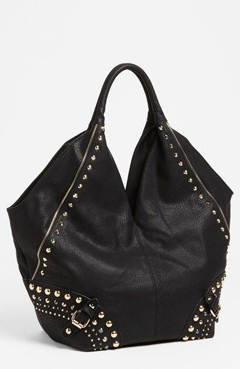 3a540b25f57 Big Buddha 'Nikki' Studded Hobo | Nordstrom Big Black Purses, Hobo Bags,