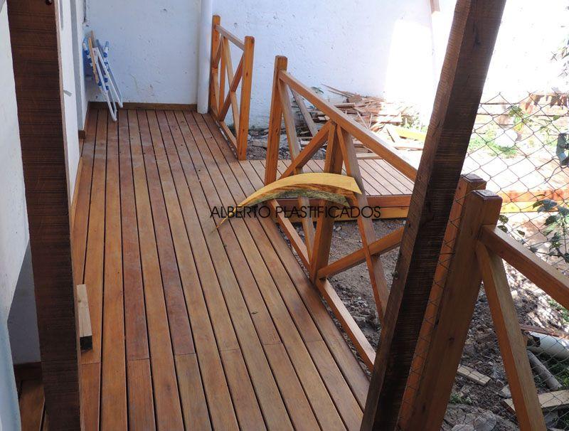 Colocaci n y protecci n de deck de eucalipto grandis y - Barandilla madera exterior ...