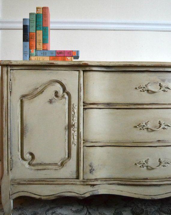 Vistoso Muebles Elegantes Pintadas En Mal Estado Bricolaje Imágenes ...