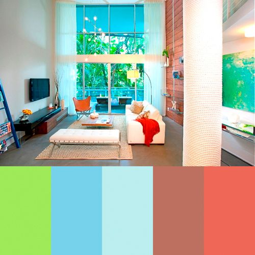 Zippy Color Palettes from DKOR Interiors | Interiors, Living rooms ...
