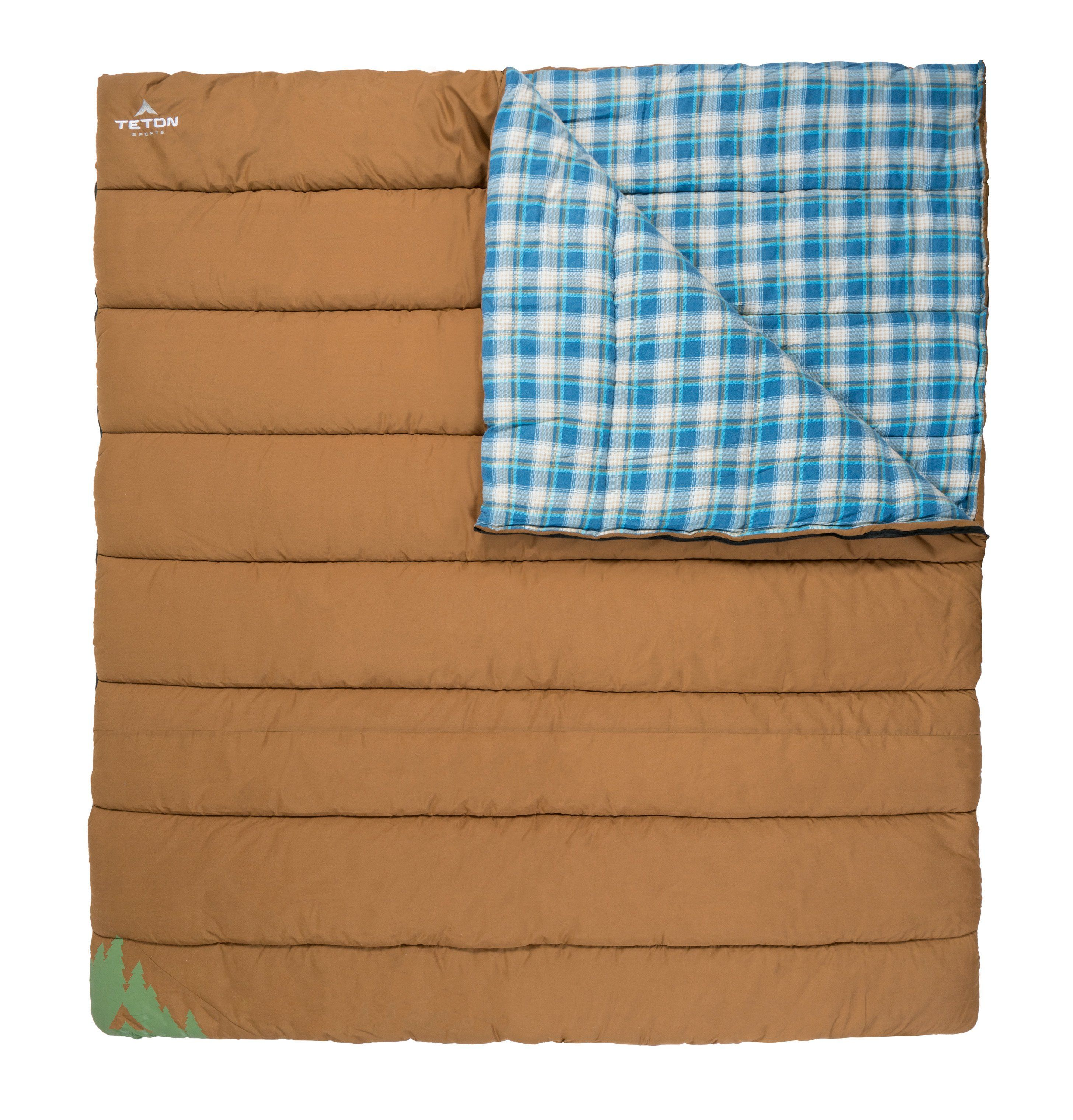 Evergreen Double Sleeping Bag Teton Sports Double Sleeping Bag Sleeping Bag Tetons