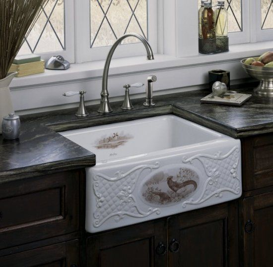 kohler kitchen sinks fireclay kitchen sinks decorative kitchen sinks pheasant - Kohler Kitchen Sinks