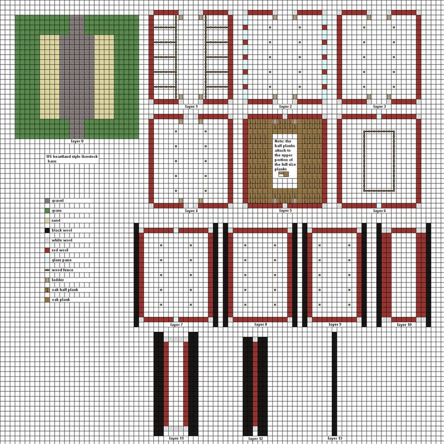 . Minecraft floorplans livestock barn by falcon01   Blueprint ideas to