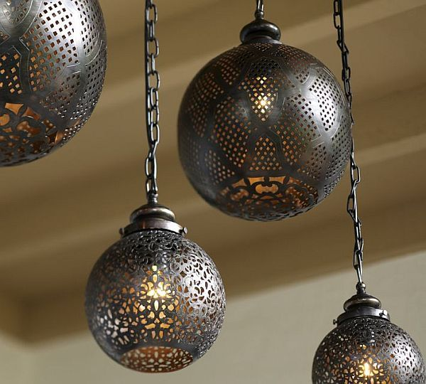 Round moroccan pendant lamps interior design home decor rooms bohemian lighting