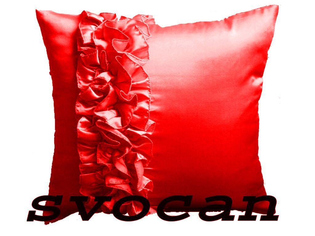 pc stylish uuxuu frill satin red cushion cover xmas home decor