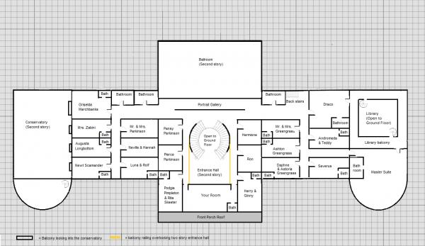 Malfoy Manor Floor Plans
