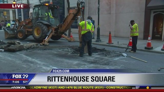 Sinkhole Shuts Down Streets In Rittenhouse Square Home Insurance
