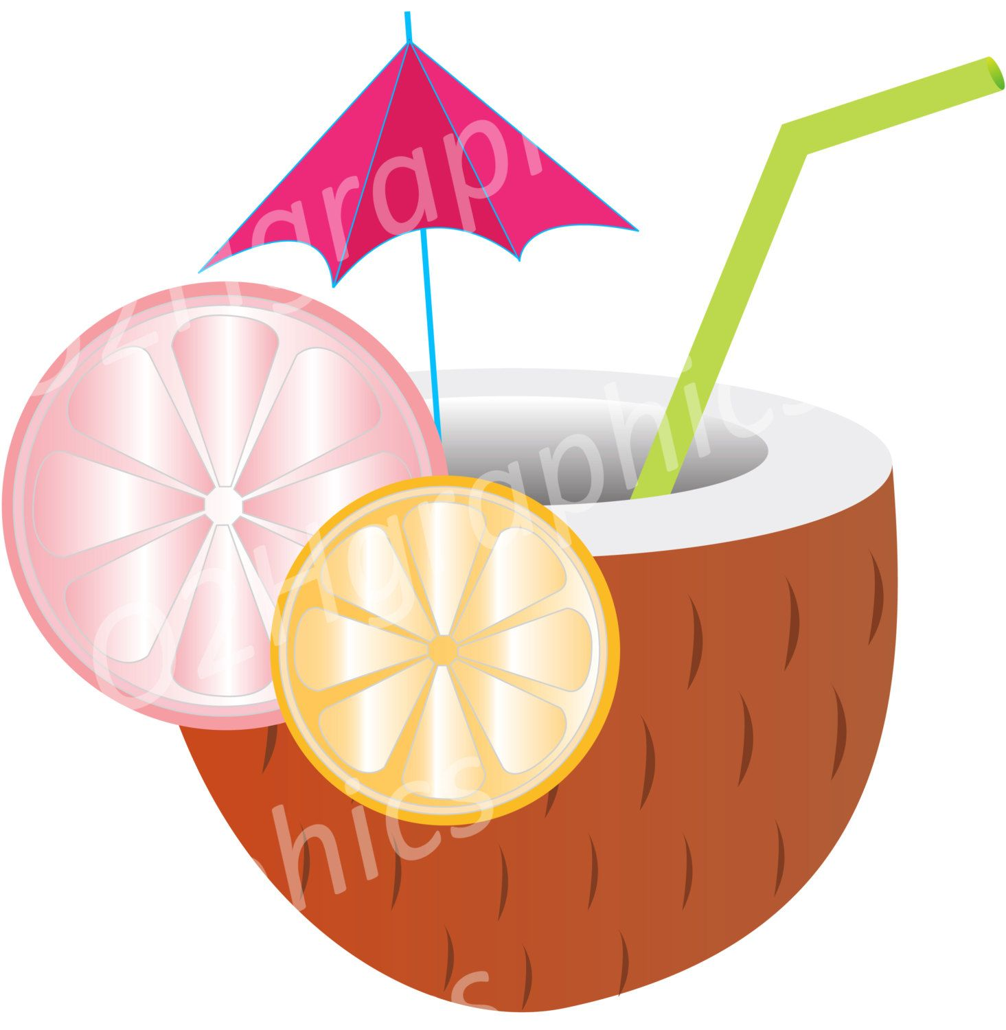 tropical drink clipart beach clip art vector clipart digital rh pinterest com