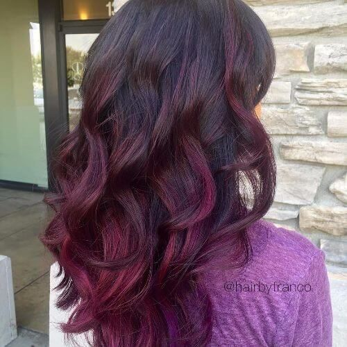Purple highlights on dark brown hair purple pinterest purple purple highlights on dark brown hair pmusecretfo Image collections