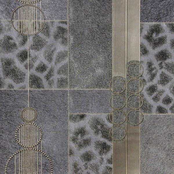 287188708 Wallpaper Serengeti Grey Patchwork Wallpaper