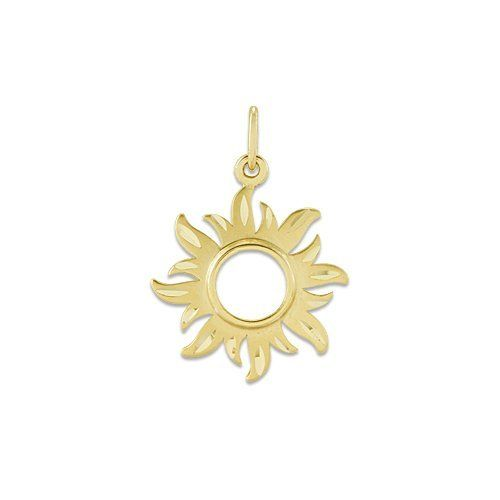 Sun Pendant in 14K Yellow Gold - 14mm Maui Divers of Hawaii. $115.00