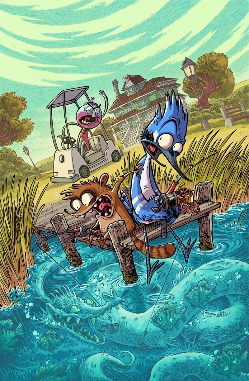 REGULAR SHOW #29 Cover by RobbVision, cartoon series, anime digital painting illustration, character design, #cover, inspirational art