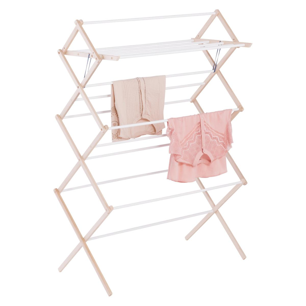 15 Dowel Wooden Clothes Drying Rack In 2020 Wooden Clothes