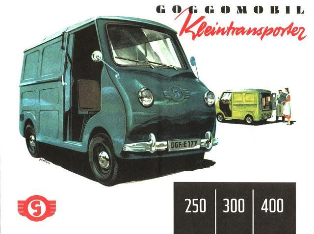 Sketchbook historic cars Pictures: Made in Germany - Goggomobil Kleintransporter