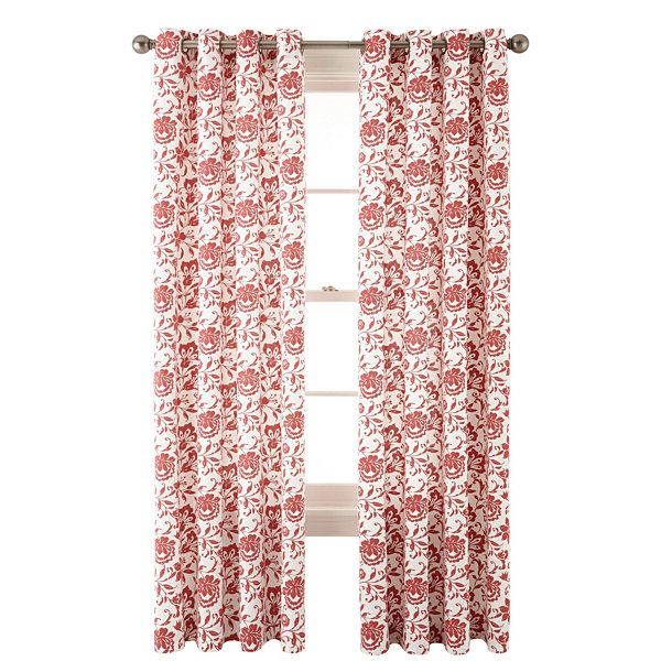Jcp HomeTM Flora Grommet Top Curtain Panel