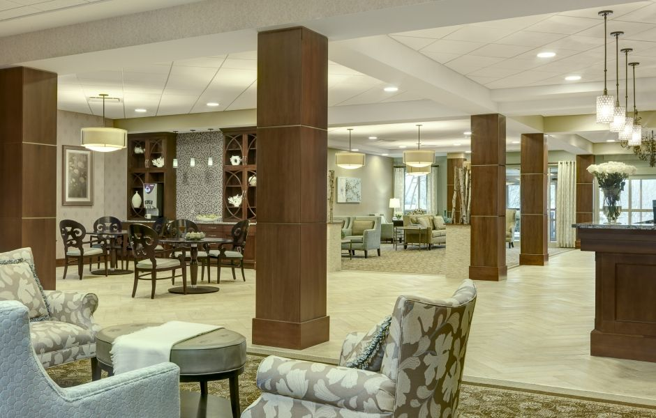 Sedgebrook lobby modern renovation ccrc future ideas - Senior living interior design firms ...