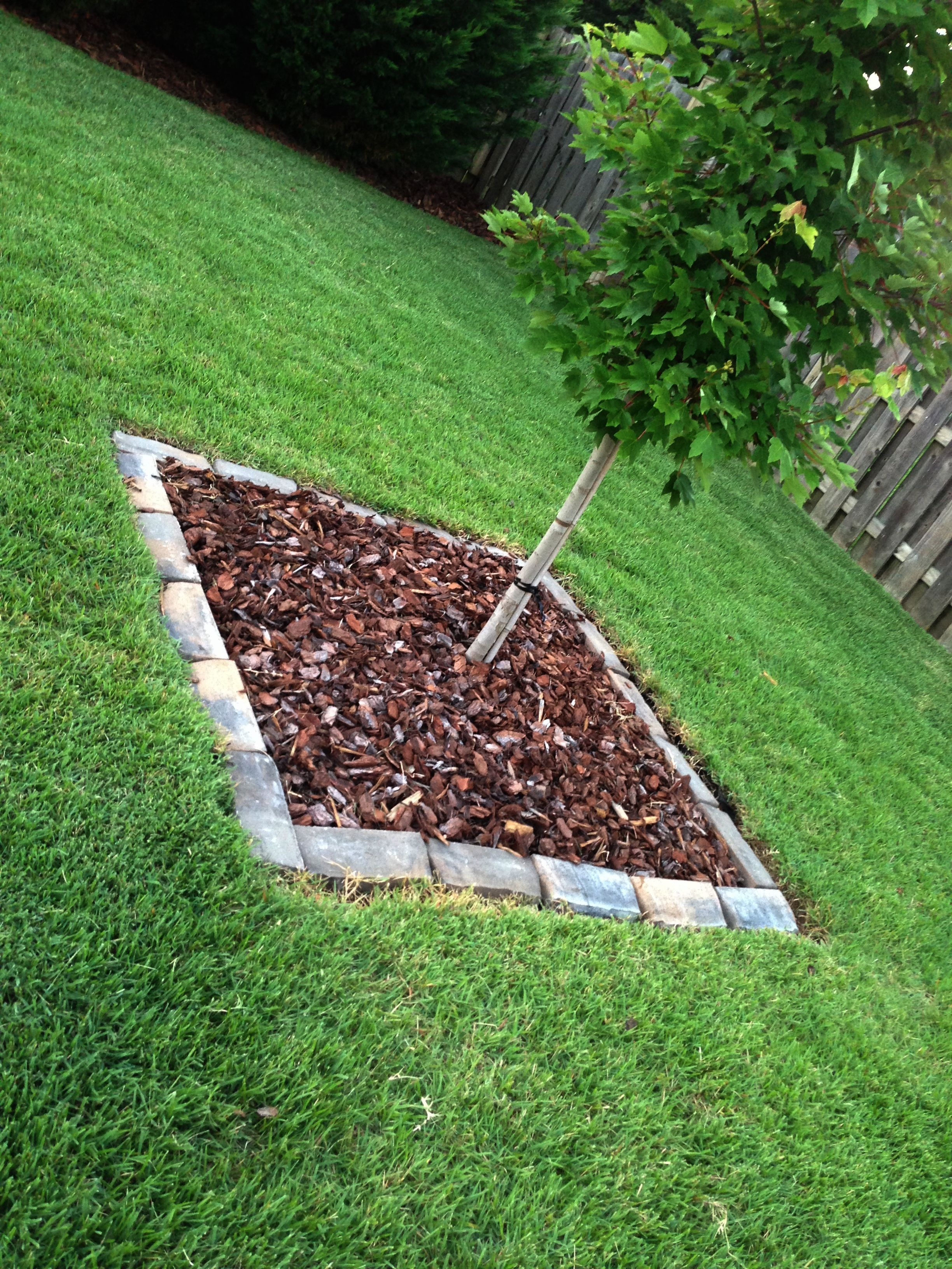 Rock mulch bed liners from Home Depot. (With images