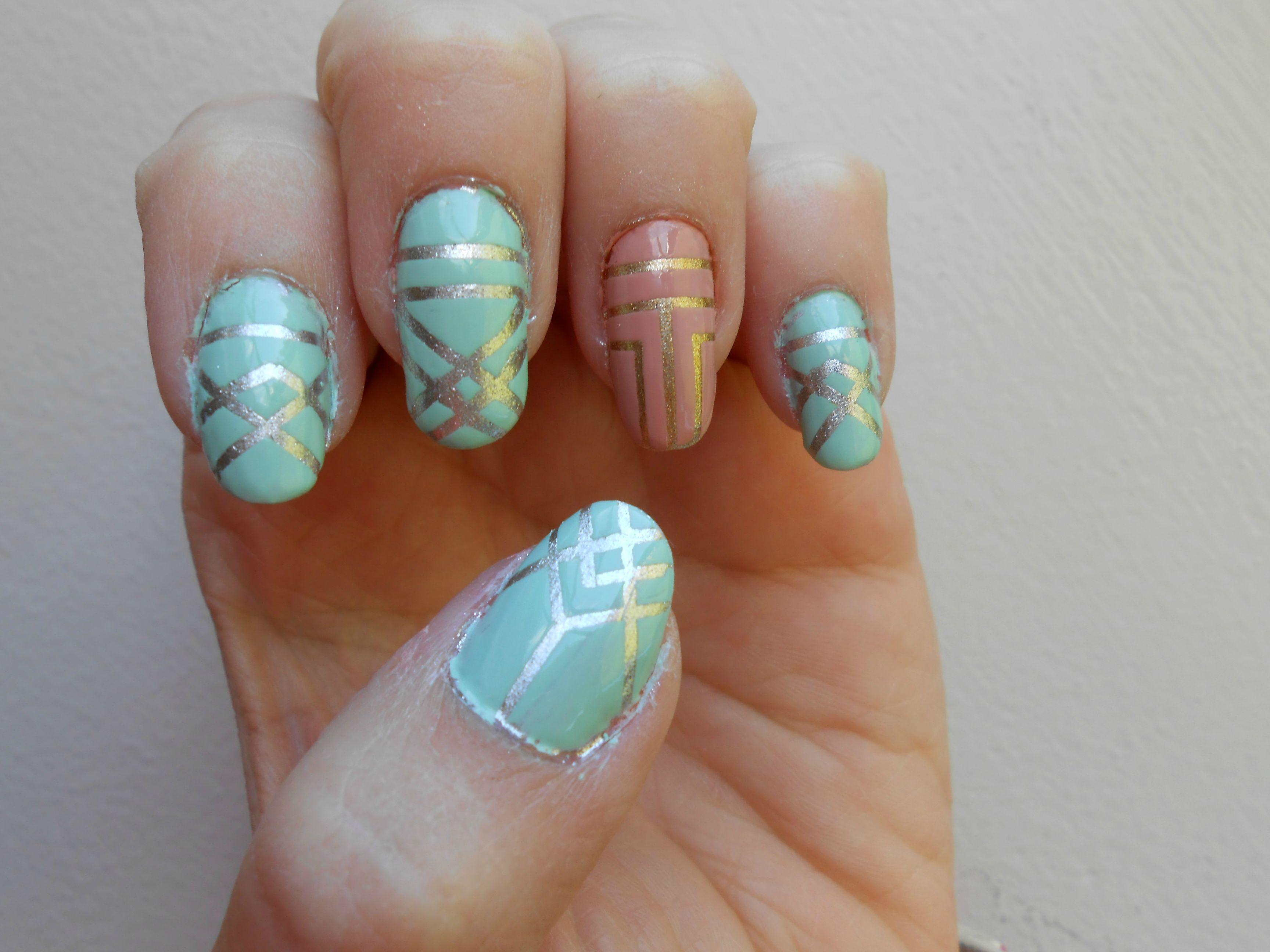ART DECO INSPIRED NAILS | Skin deep :D | Pinterest | Art deco nails ...