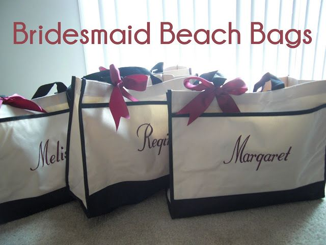 Bridesmaid Gifts For A Beach Bachelorette Trip Or Weddings Bride Needs Bag Too