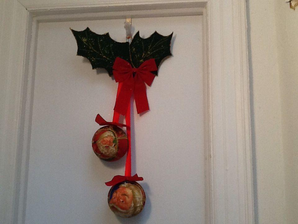 Adornos navideños para las puertas
