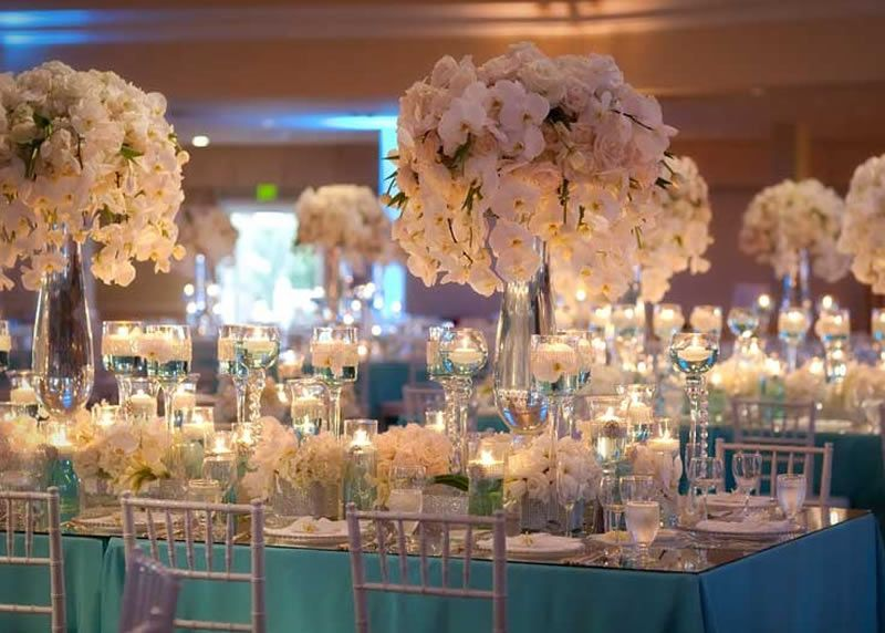 Reception Idea For Our Tiffany Blue Wedding