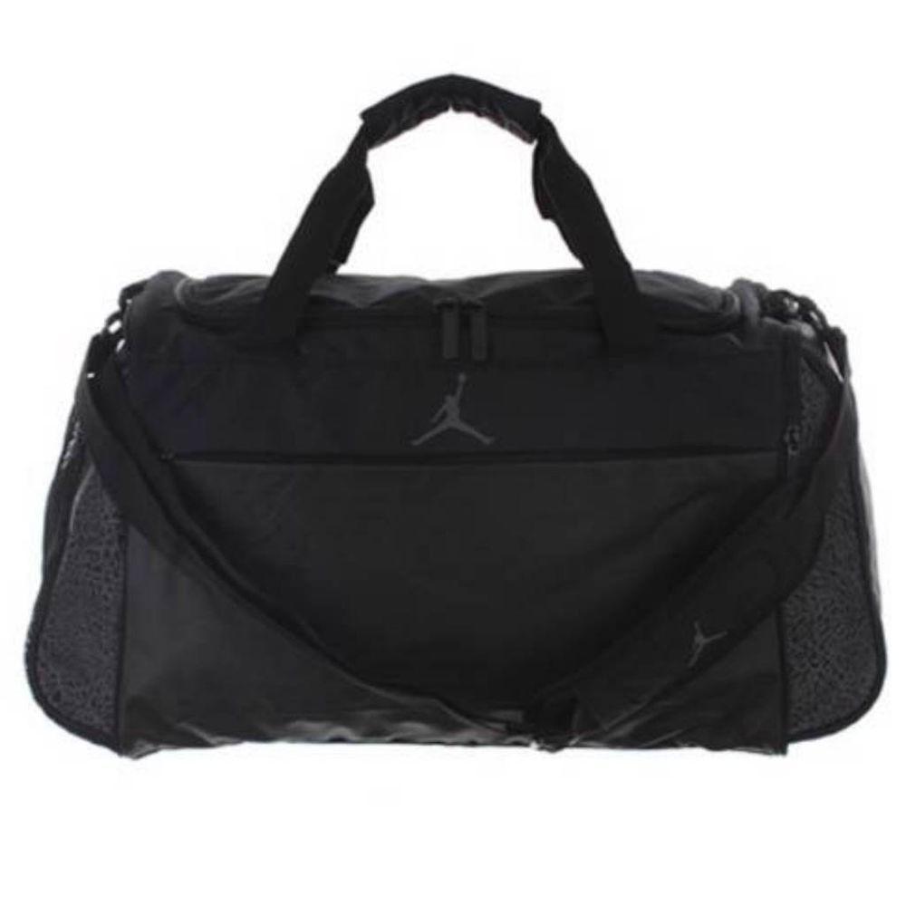 6505766f44 ... Nike Air Jordan Duffel Bag Black Gym Basketball Duffle Men Women Boy  Girl Nike ...