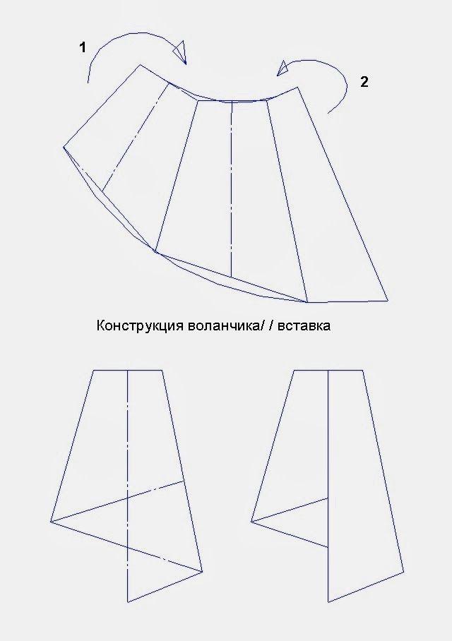 Patrón gratis: falda con volantes plegados