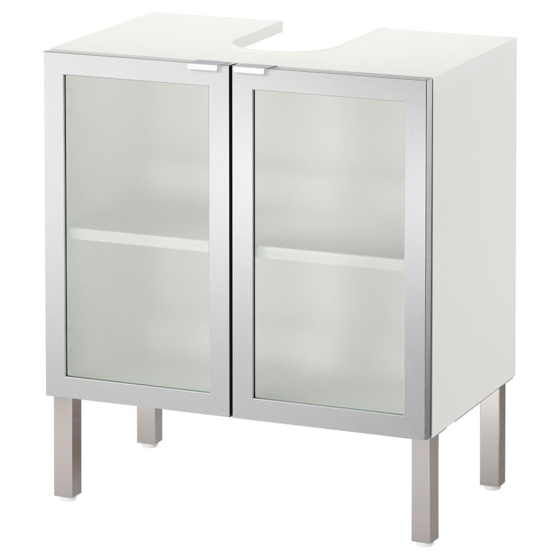 Lillangen Element Lavabo A 2 Portes Aluminium 60x38x66 Cm Meuble Sous Lavabo Meuble Sous Lavabo Ikea Et Meuble Vasque Ikea