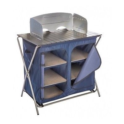 Camping Kitchen Camp Organizer Pantry Cooking Table Portable Food Prep