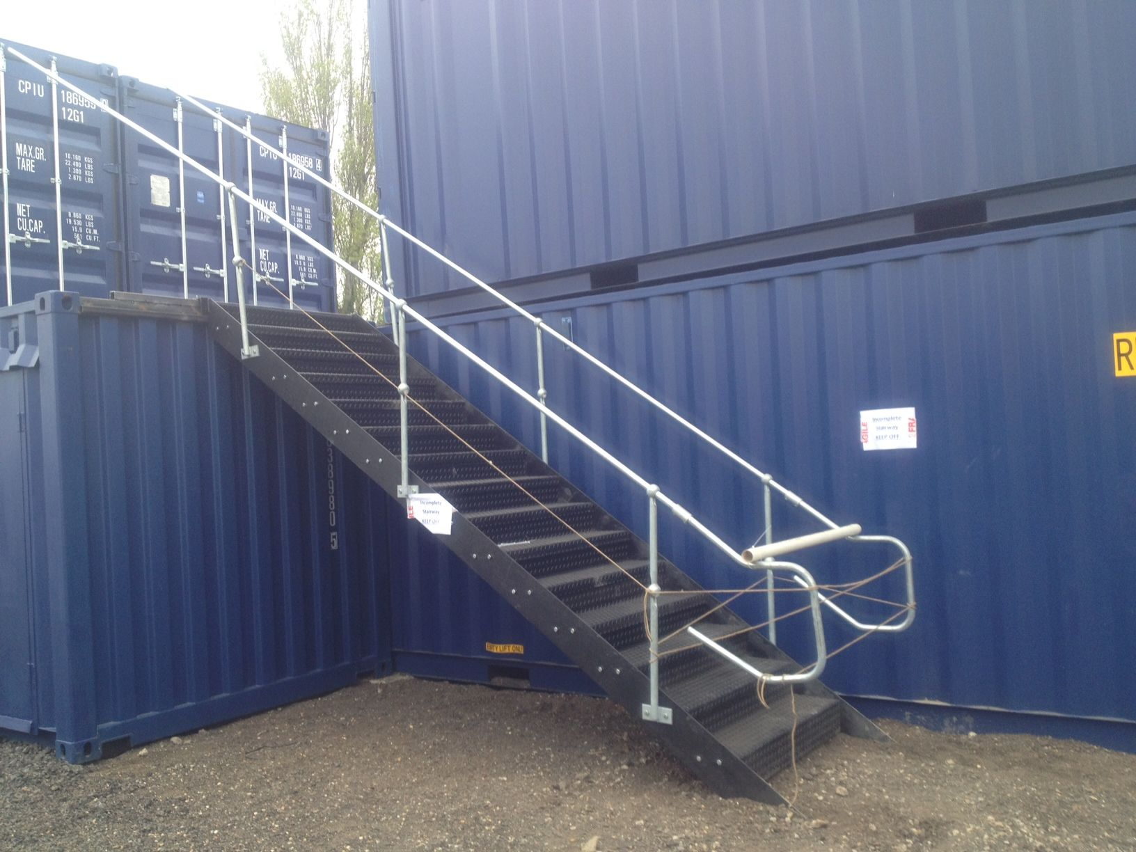 Our First Install Of Shipping Container Self Storage Stair Case Is Underway Container House Stair Storage Self Storage