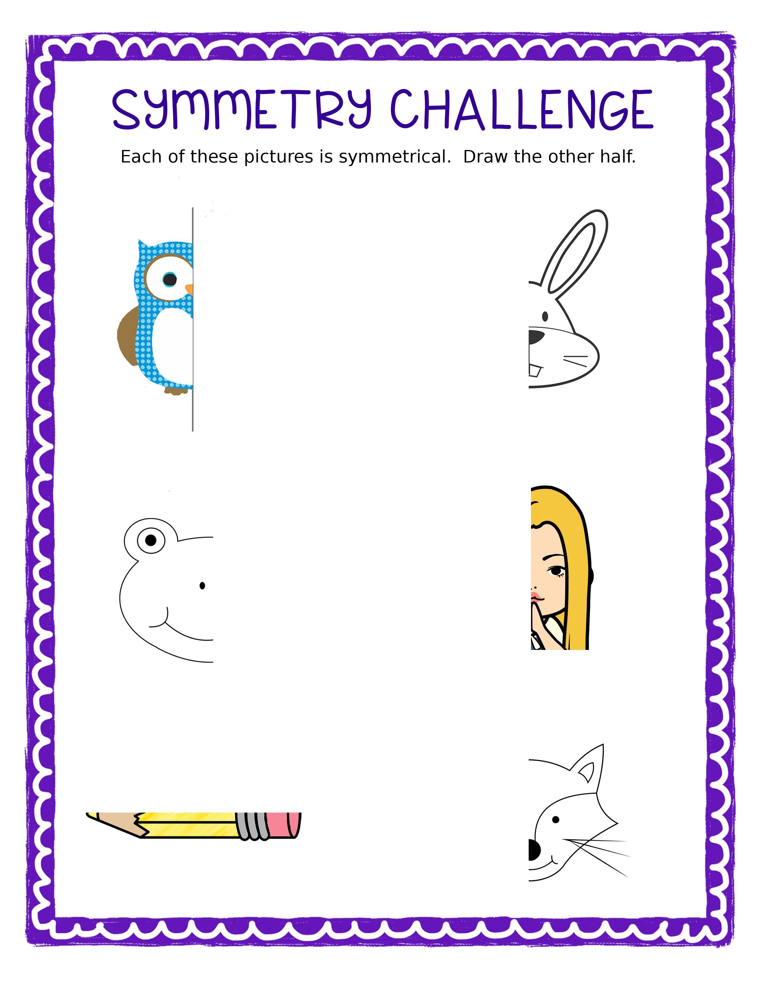 Free Symmetry Challenge Sheet