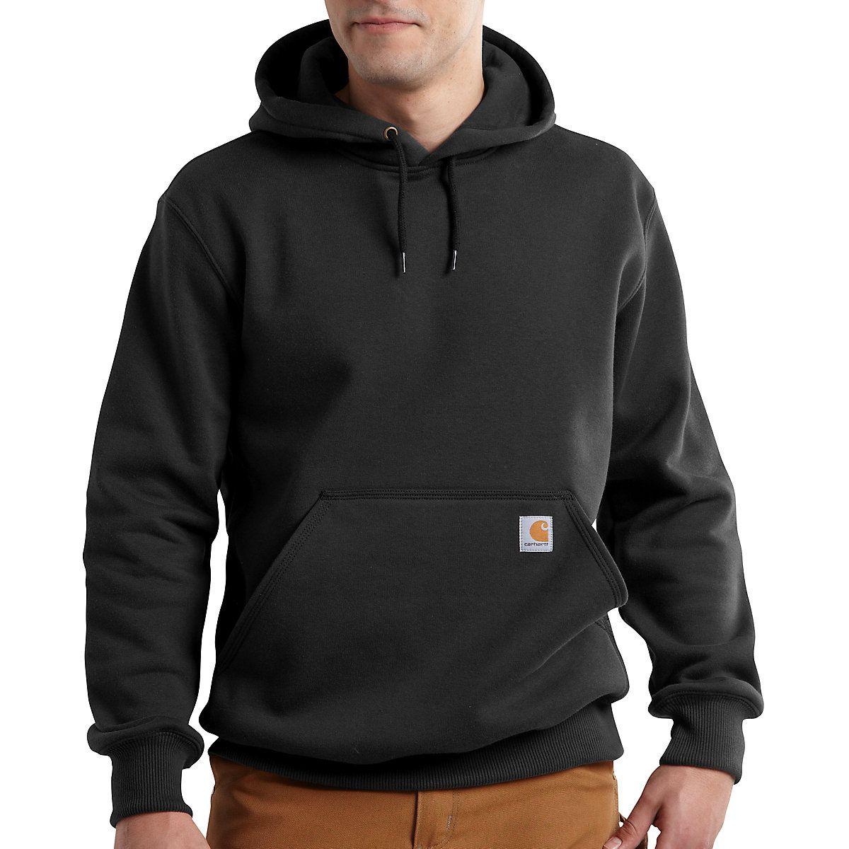 Carhartt Mens Midweight Hooded Sweatshirt Solid Long Sleeve Shirt