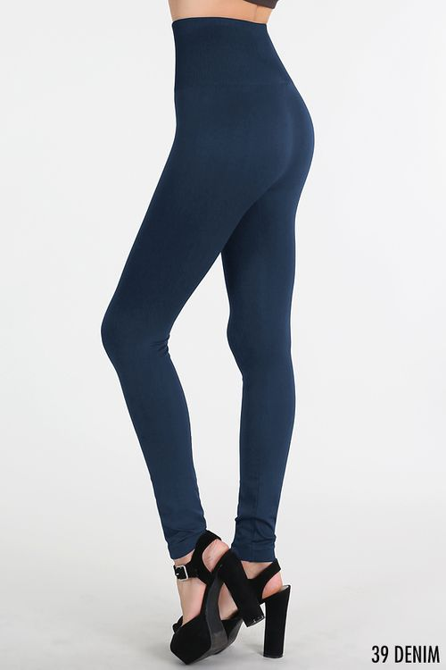 Replace your jeans with a pair of denim blue Nikibiki Highwaist Band Leggings!