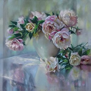 Expectant Beauty by artist Mary Aslin. #artwork found on the FASO Daily Art Show - http://dailyartshow.faso.com