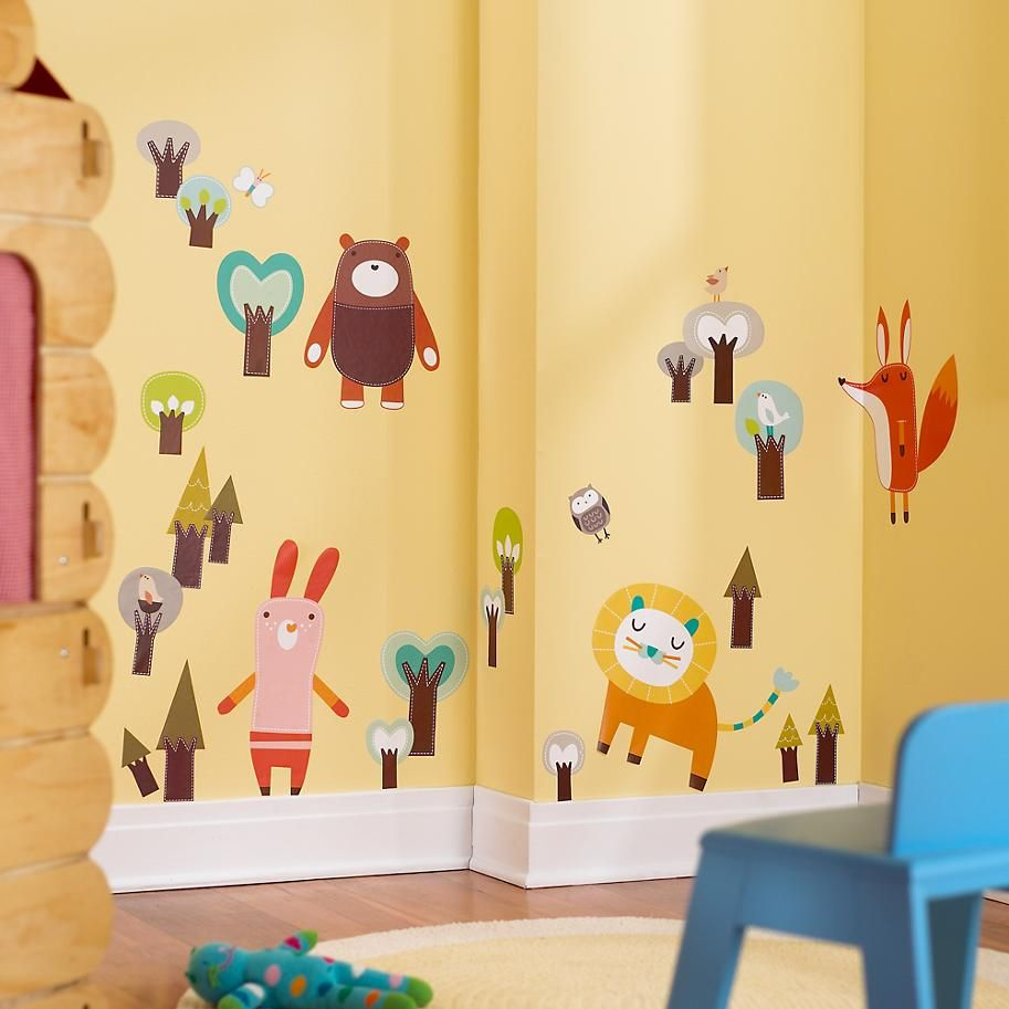 The Land of Nod | Forest Friends Wild Stick On in Wall Decals | M a ...