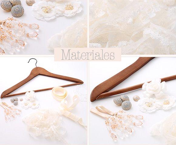 Materiales para adornar la percha para el vestido de novia | Voy a ...