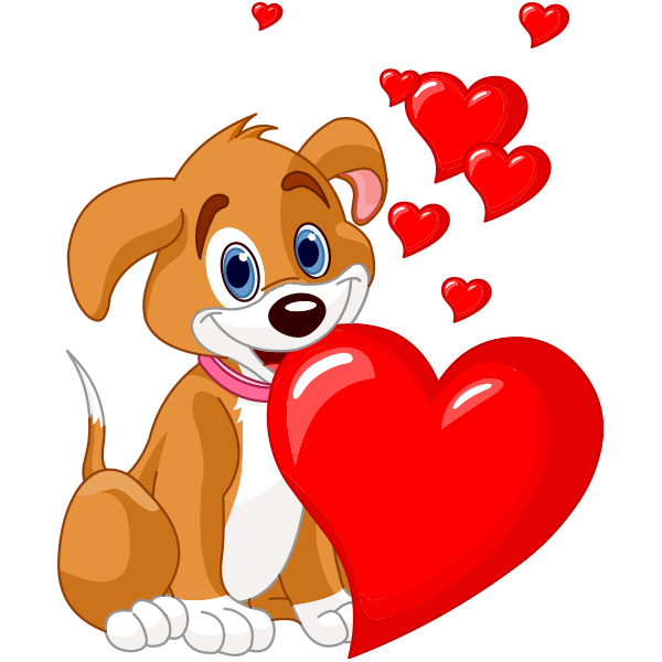 Puppy And Hearts Clip Art Clip Art Pictures And Applique Ideas