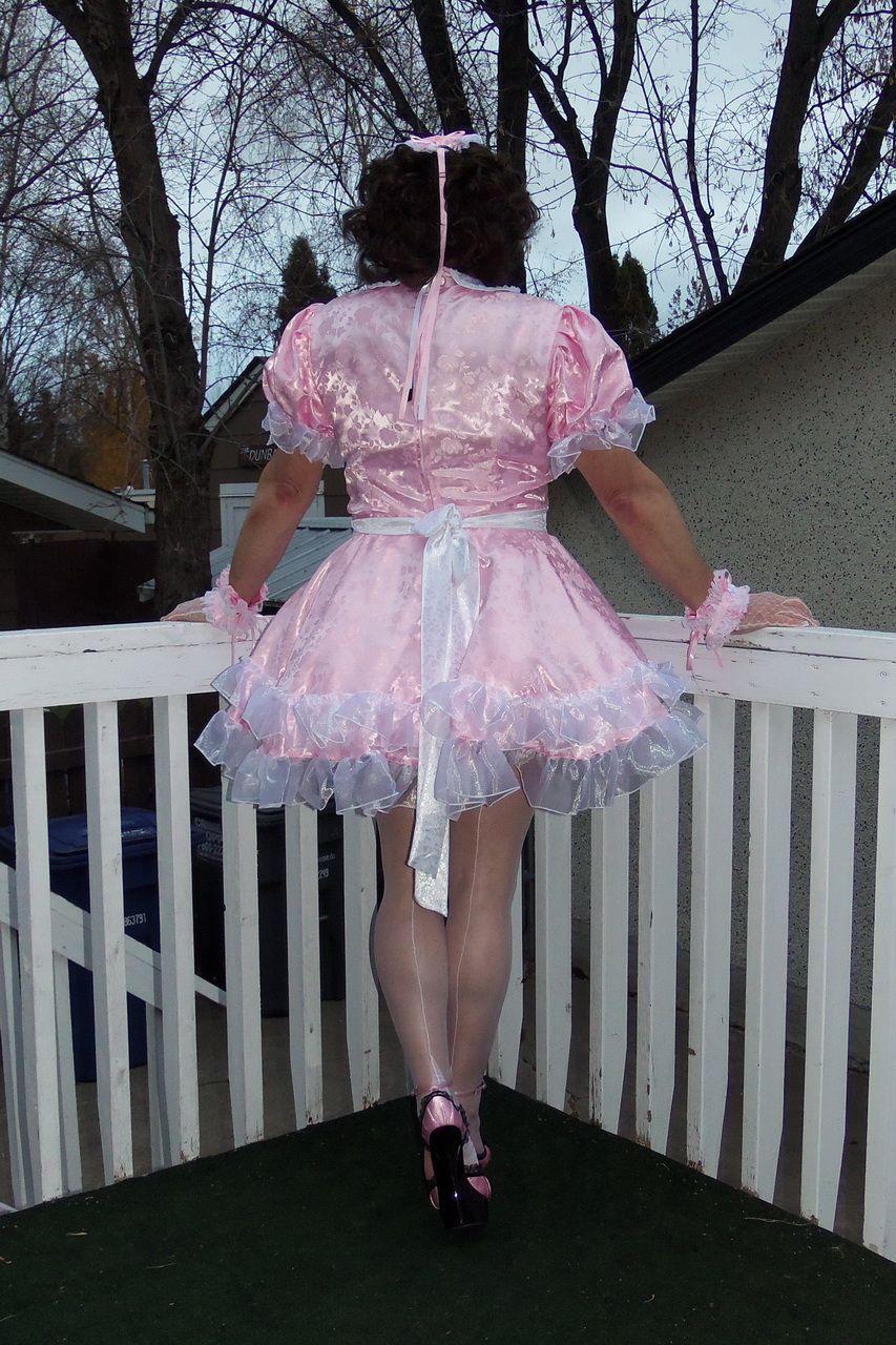 Frilly Sissy Tumblr inside posing in my g2407 lockable french maid uniform/sissy maid dress