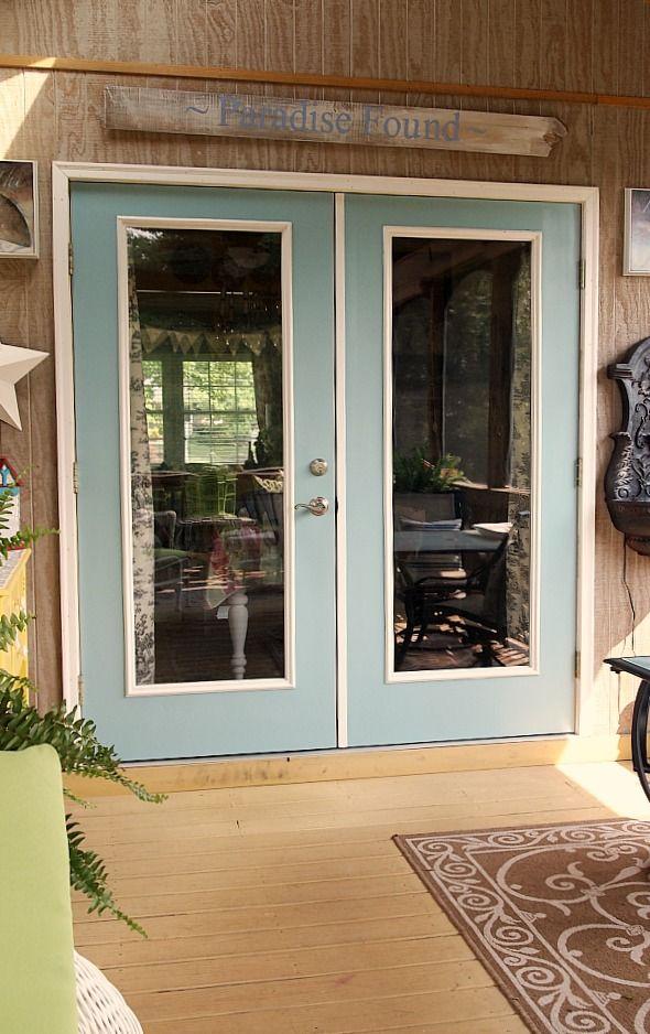 Before And After Patio Door Makeover Exterior Patio Doors